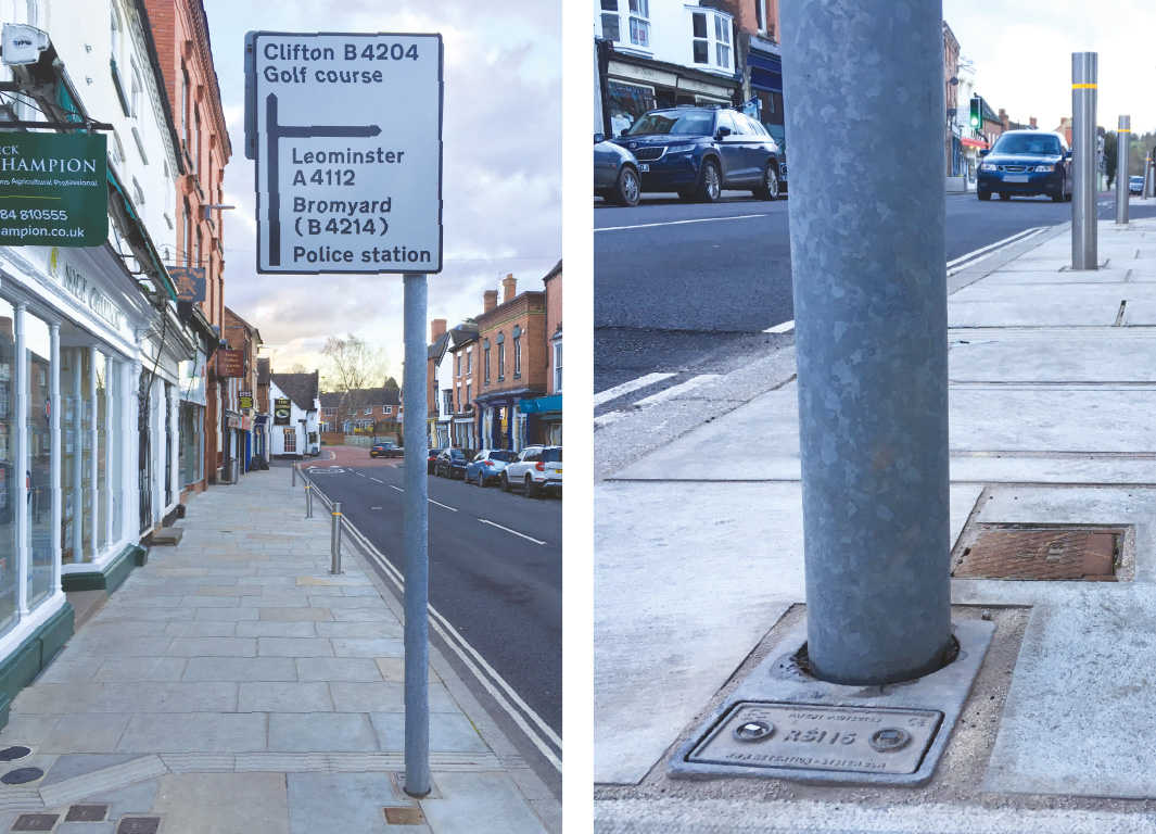 Signage and Bollards – Tenbury Wells